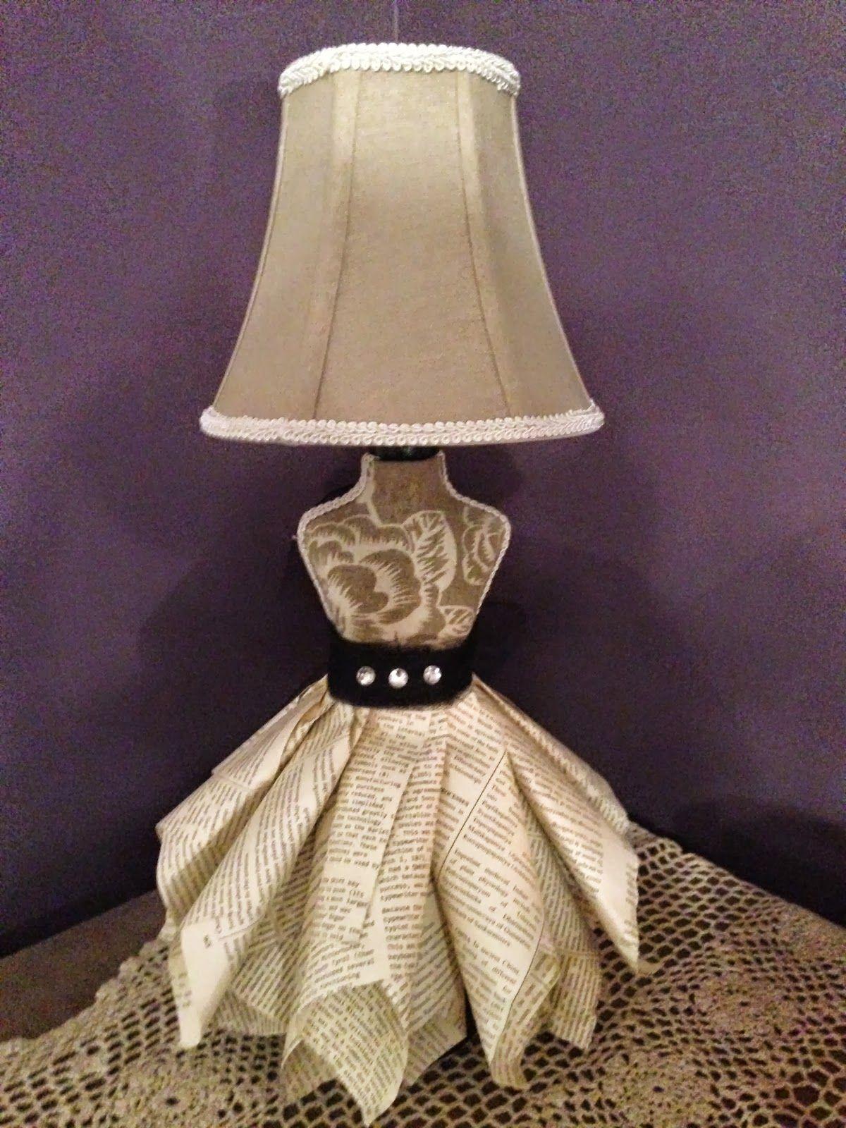 Dress Form Lamp Craft Room Decor Diy Lamp Shade Make A Lampshade