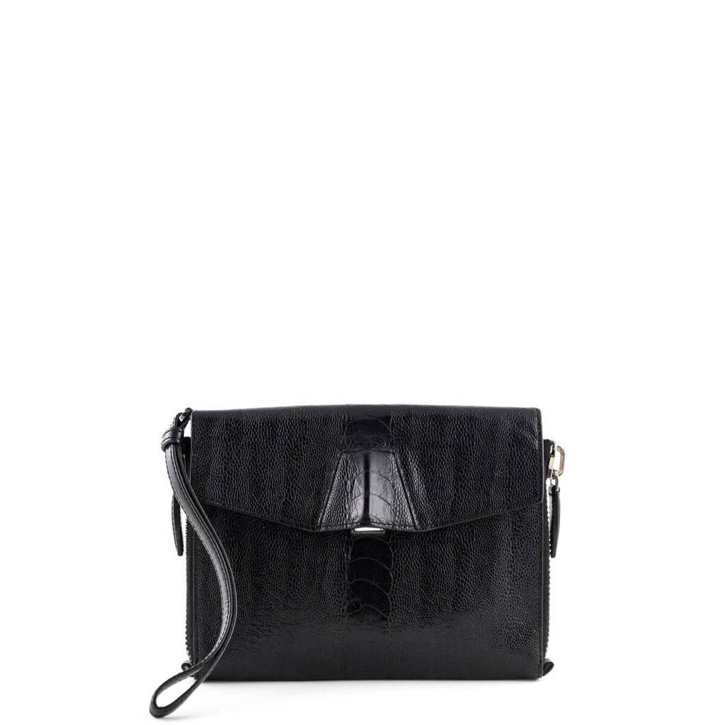 84ebaec4bf83 Alexander Wang Black Leather Reptile Embossed Lydia Clutch - LOVE that BAG  - Preowned Authentic Designer Handbags -  225CAD