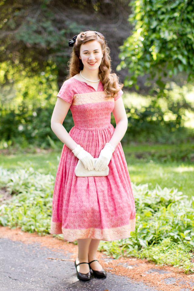 · 1950s Sari Dress · (Mode de Lis) #saridress