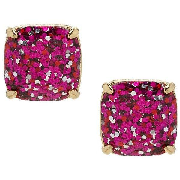 kate spade new york Glitter Stud Earrings ($38) ❤ liked on Polyvore featuring jewelry, earrings, glitter earrings, glitter jewelry, glitter stud earrings, stud earrings and kate spade