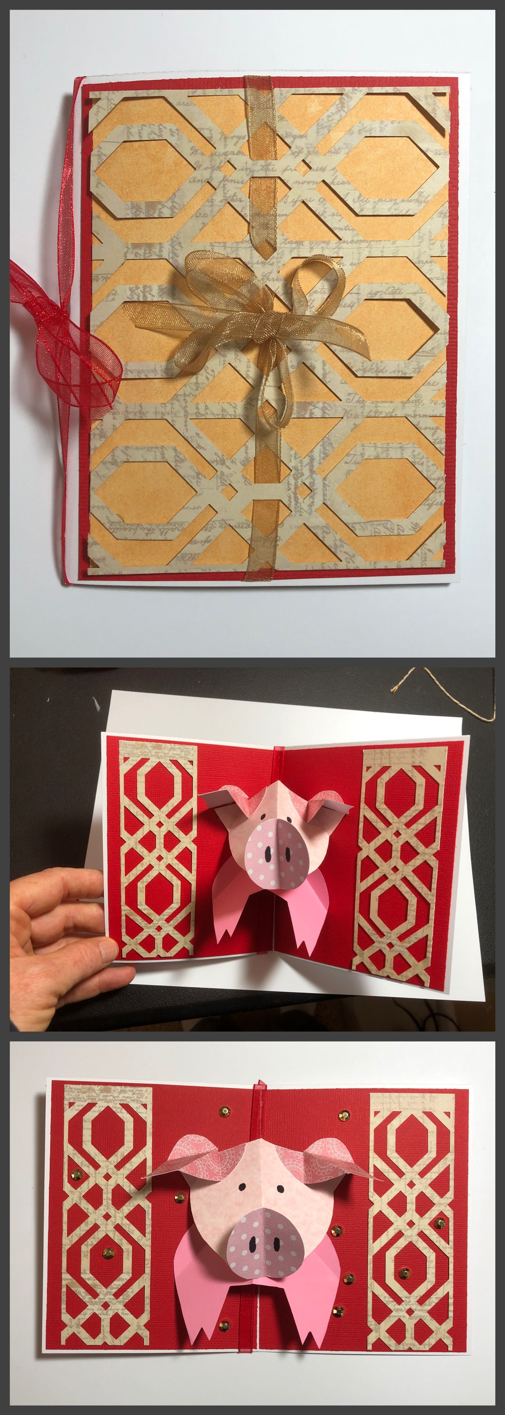 Loving This Very Fun Pop Up Pattern Using It For A 2019 Chinese New Year Card Handmade Greeting New Year Cards Handmade Chinese New Year Card New Year Card