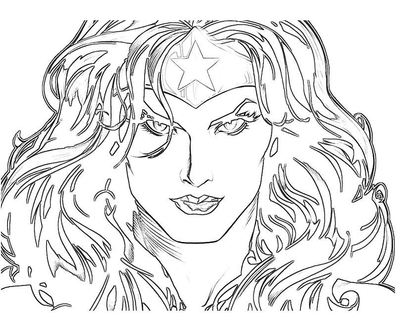 Injustice Gods Among Us Wonder Woman Face Surfing Coloring