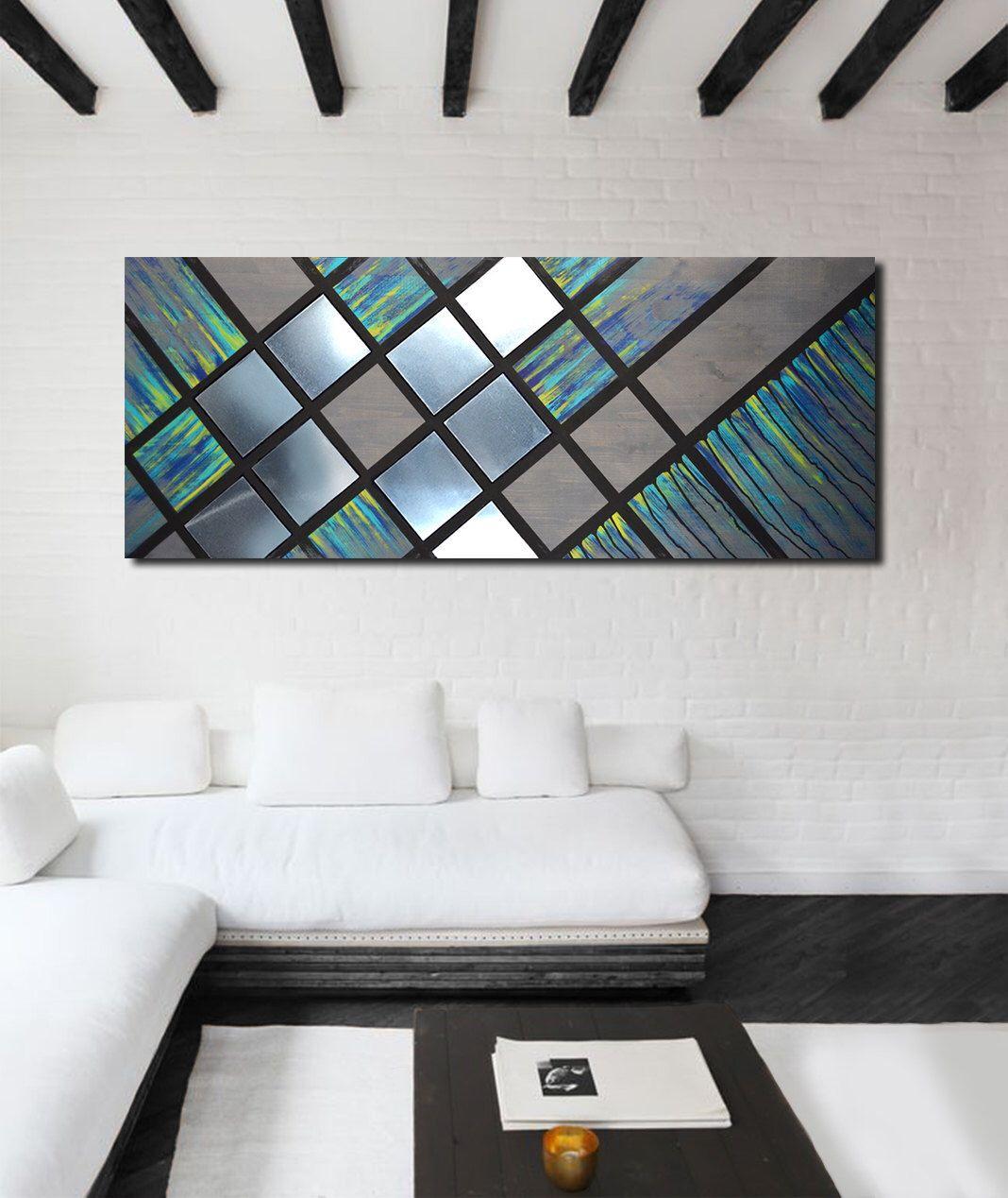 Metal art wall decor wood wall art decor modern abstract wall art large