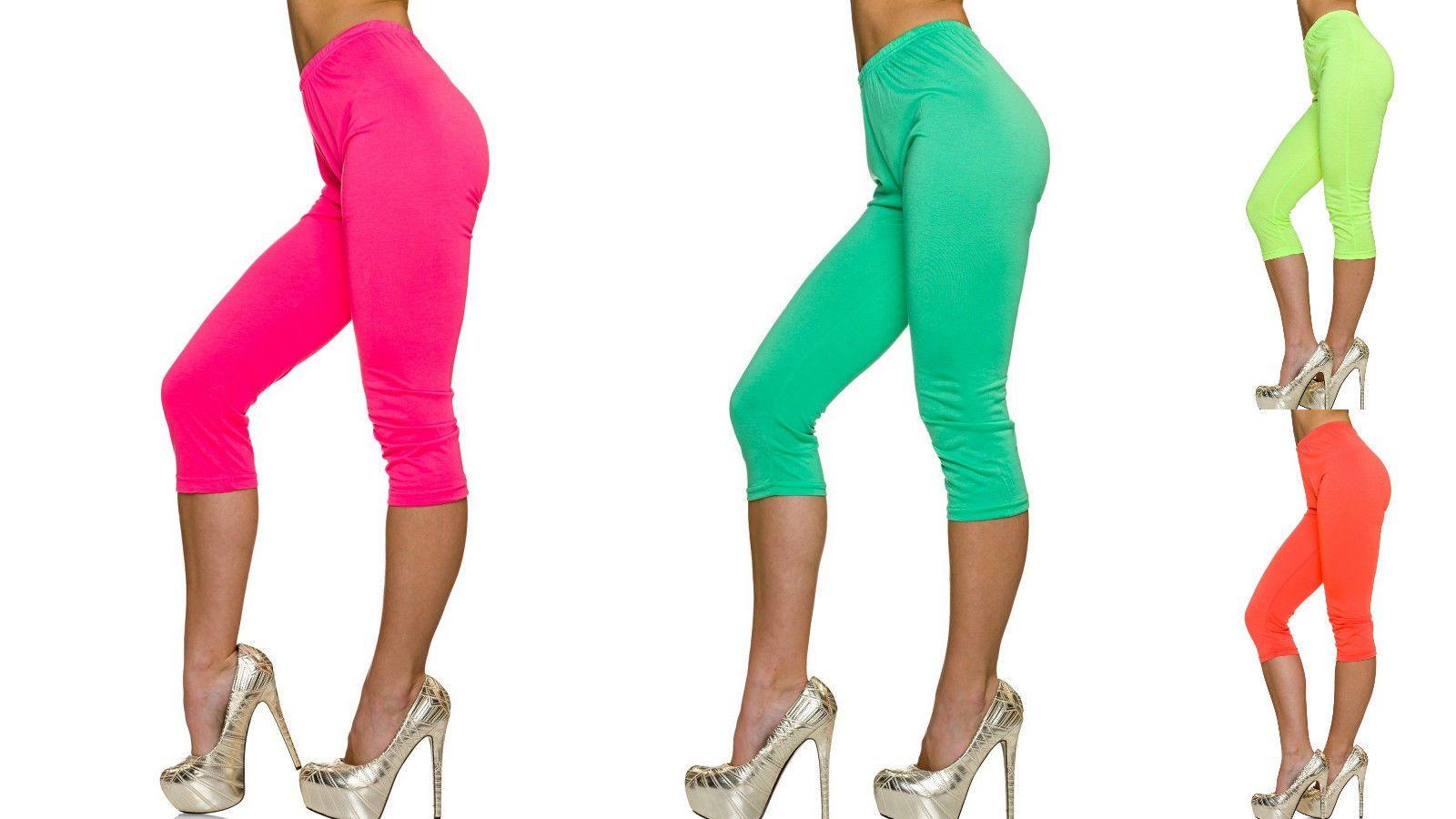 c696b8c676dccd Womens 3/4 Length Leggings Ladies Floral Lace Cropped Trim Edge Jeggings  Pants | eBay