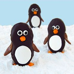Hungry Happenings: Dark Chocolate Nutter Butter Penguins with Marshmallow Bellies