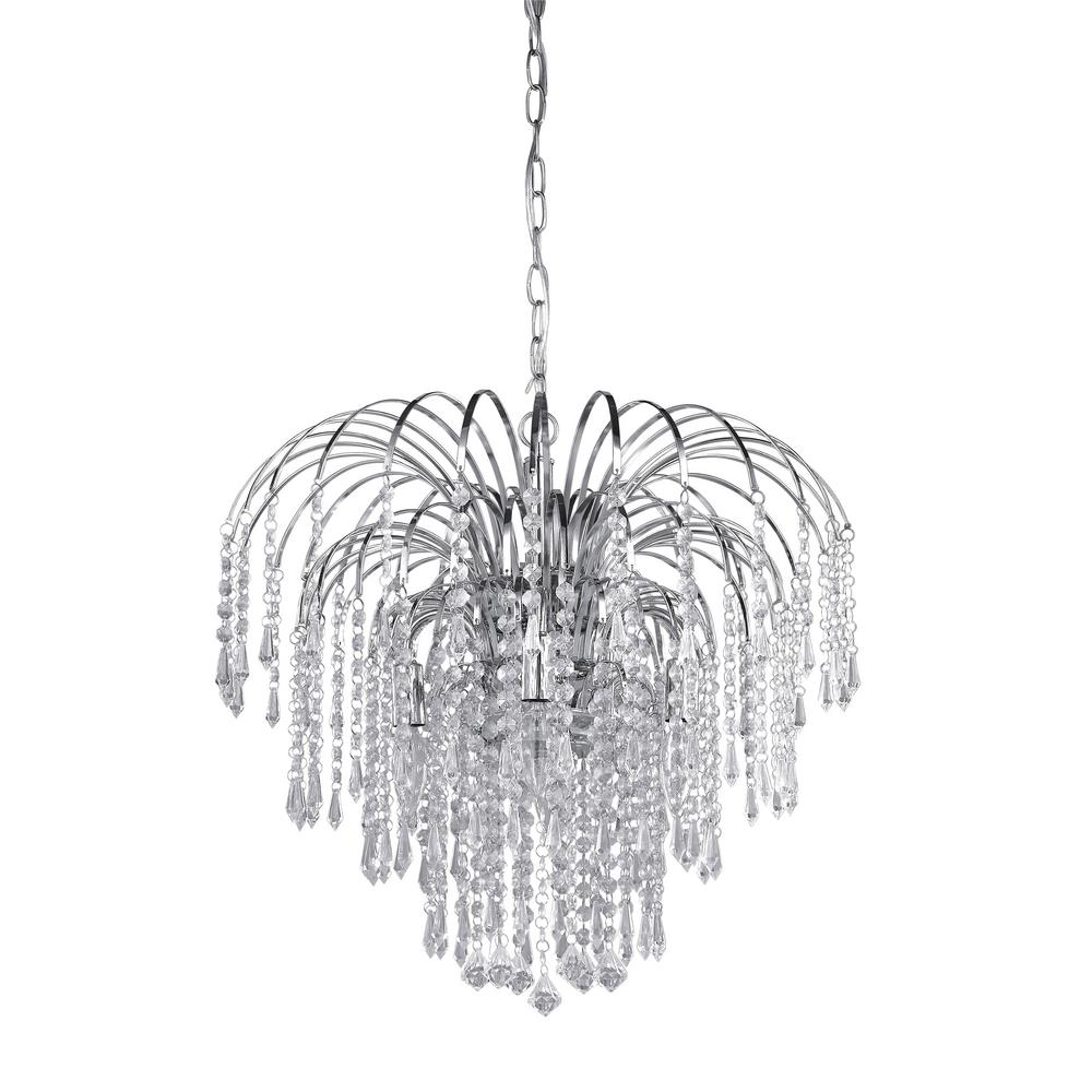 Canarm olivia light chrome chandelier with acrylic jewels chrome
