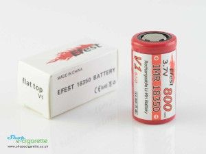 Mod Batteries : 18350 Battery V1 800mAh Flat Top