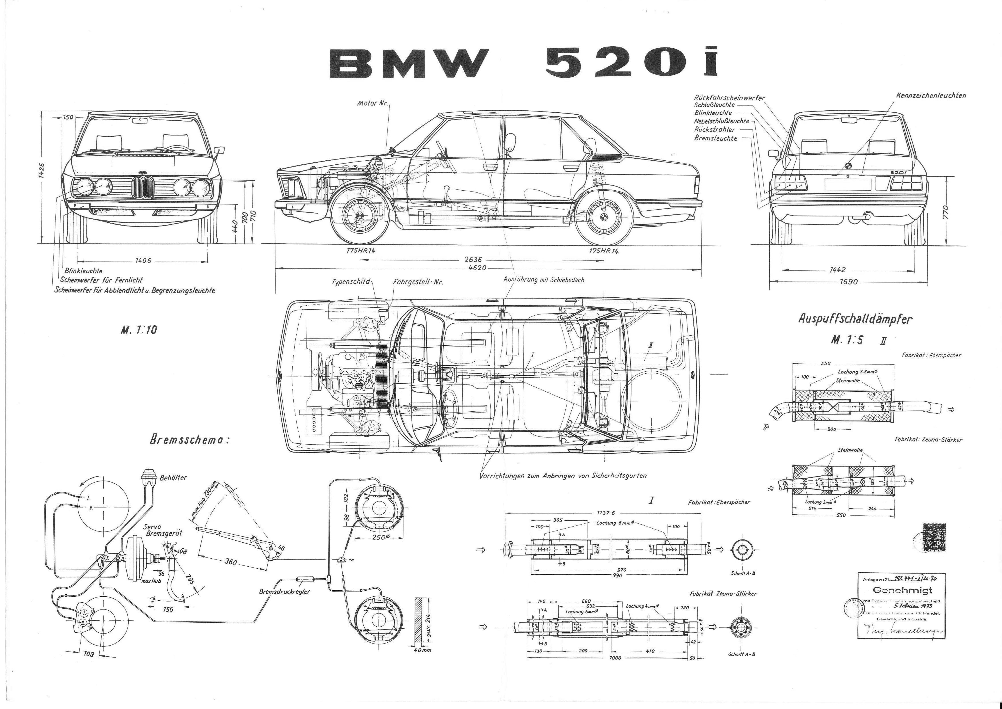 Bmw 520i E12 1973 Smcars Net Car Blueprints Forum