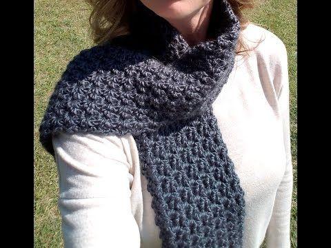 Free Crochet Patterntweedy Puff Stitch Scarf Scarfs Crochet