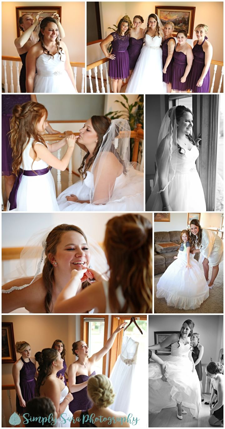 Wedding Photo Ideas - Getting Ready Photos - Bride with her ...