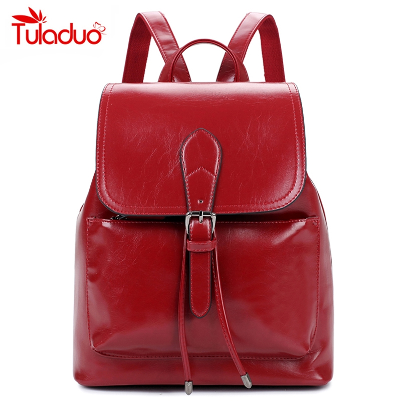 21.00$  Watch here - http://ali7q5.shopchina.info/go.php?t=32743372079 - New Design Fashion Preppy Style Woman Backpack Famous Brand High Quality Leather Ladies Softback Girl School Bag Mochila Escolar 21.00$ #magazineonlinewebsite