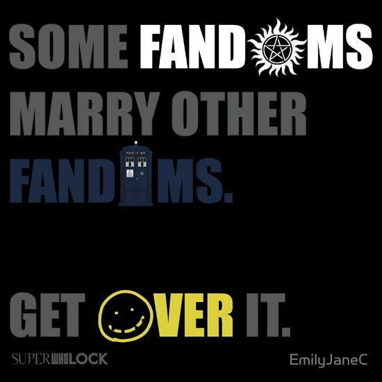 yeay, but SuperWhoLock are siblings. half-siblings. Who and Lock have one shared parent...... Moffat