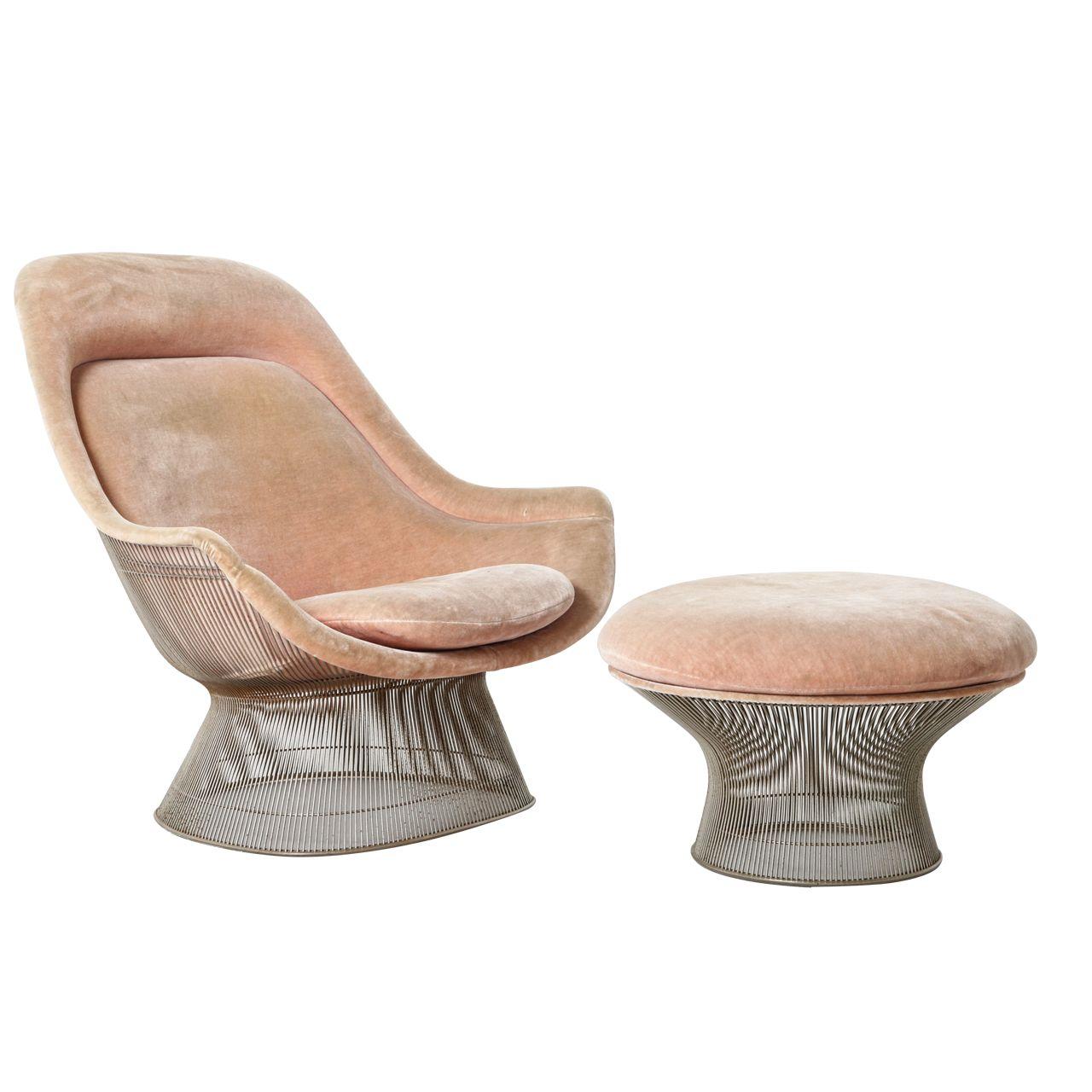 Warren Platner Lounge Chair & Ottoman | Sillas