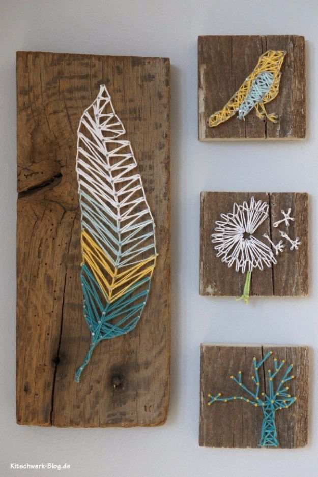 Diy String Art Projects Diy Nail And Thread String Art Cool Fun