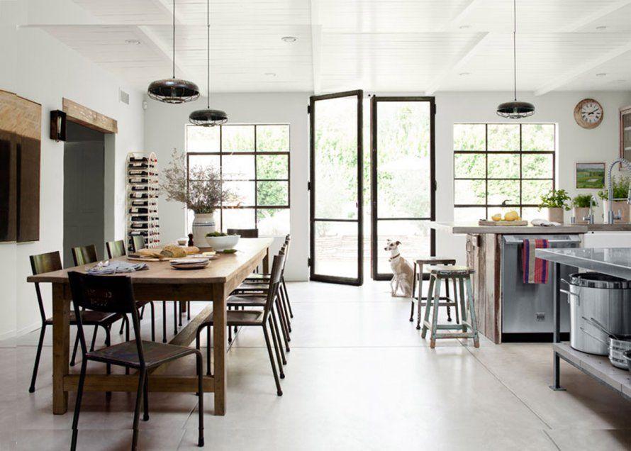 Une cuisine ouverte style cantine | Cuisine ouverte, Ouvert et Marie ...