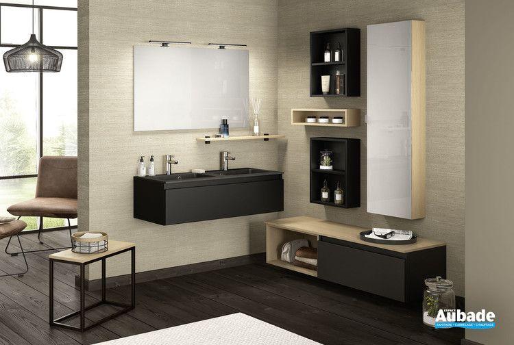 meuble double vasque effet pierre d