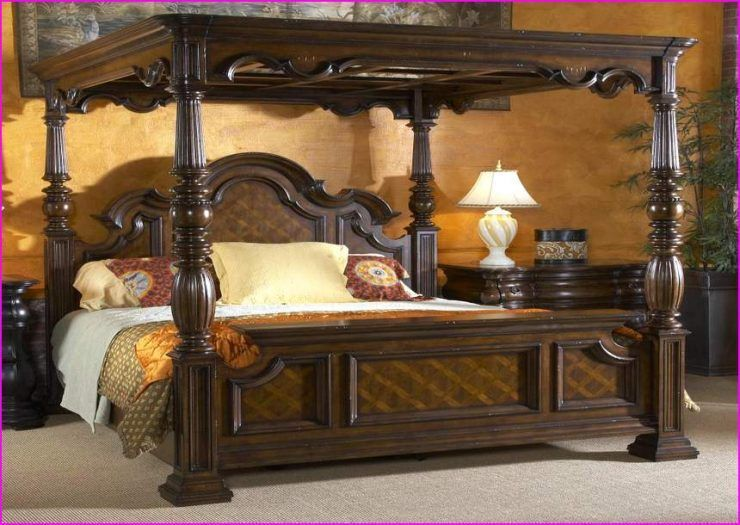California King Canopy Bedroom Sets