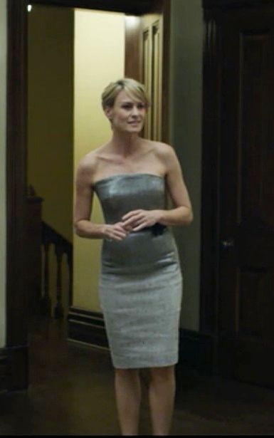Speaking Of Jaw Dropping Strapless Dresses Claire Underwood