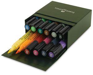 Fabercastell Pitt Big Brush Artist Pens Art Materials Pen Sets