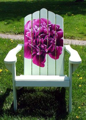 Adirondack Chair Hand Painted with Floral Design