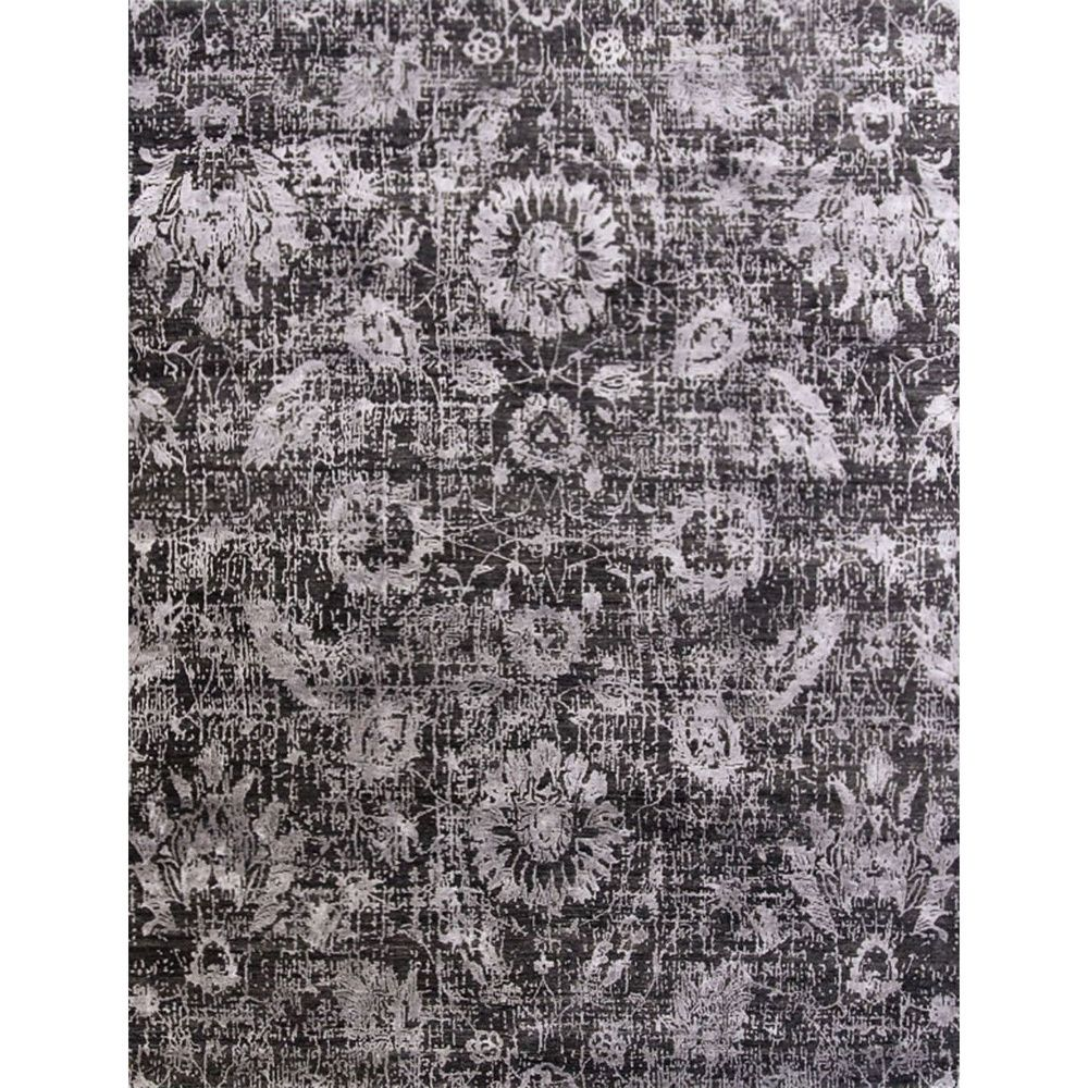 I NEED this rug!!!  Hand Knotted Floral Pattern Grey Wool/ Art Silk Area Rug (8' x 10') | Overstock™ Shopping - Great Deals on JRCPL 7x9 - 10x14 Rugs