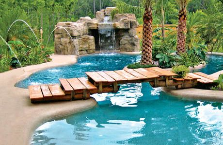 grotto built by blue haven pools charlotte grottos pinterest swimming pools pool designs and backyard