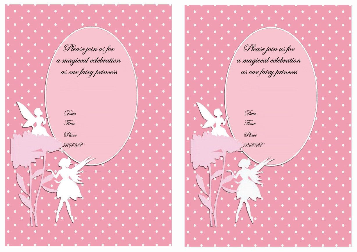 Fairy FREE Printable Birthday Party Invitations | Birthday Party ...
