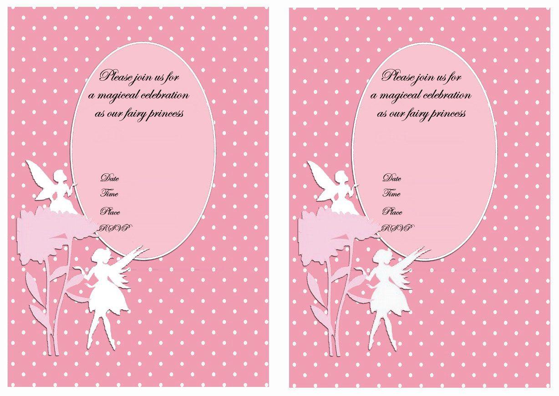 Free Printable Fairy Birthday Invitation – orderecigsjuice.info