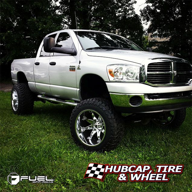 """2007 Dodge Ram, Fuel Octane - D508 chrome, 22"""" x 14"""" rims, 37 x 13.50R22."""