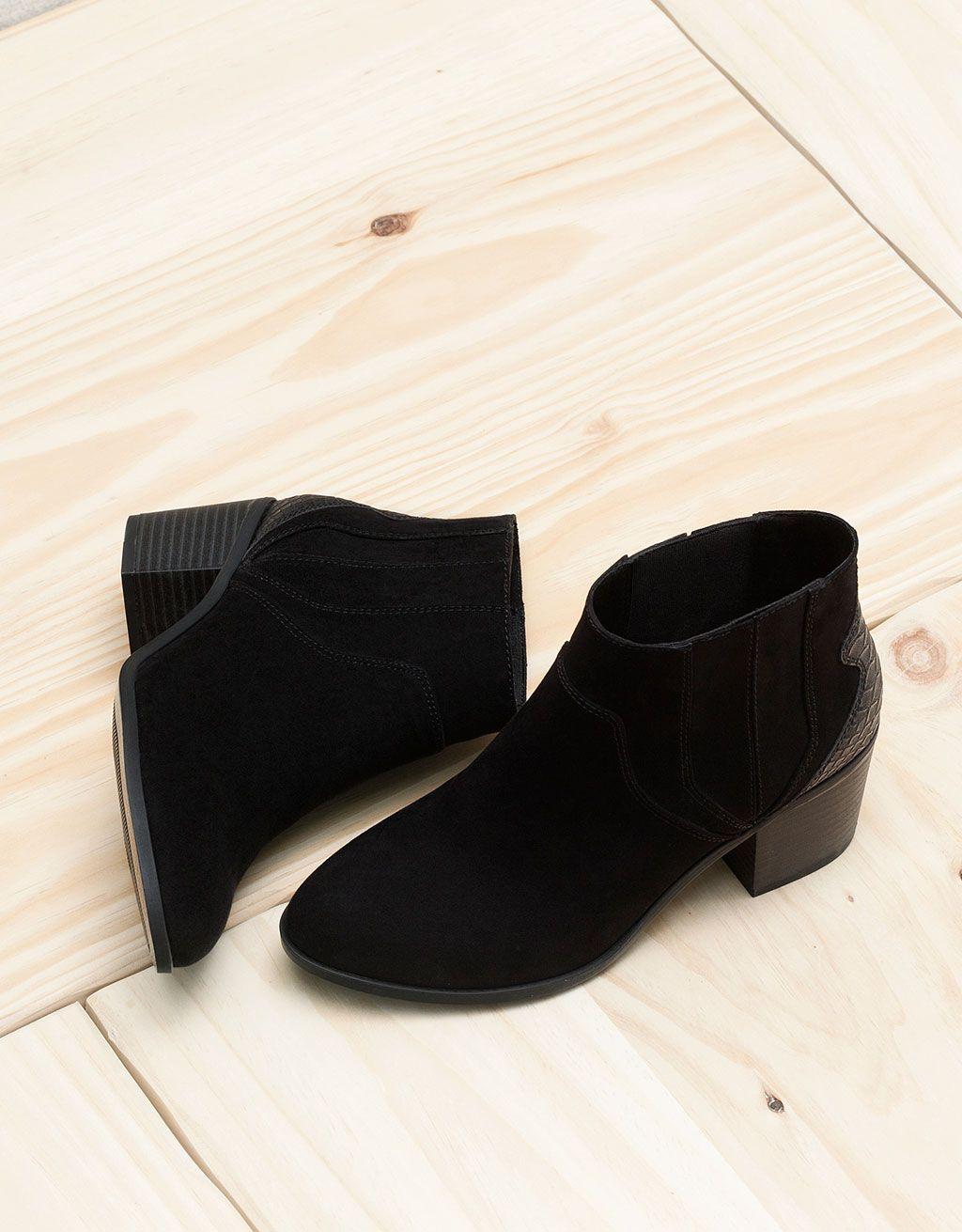 ac9172ec0 Botín Tacón BSK | Shoes Galore | Botines tacon, Bershka y Zapatos