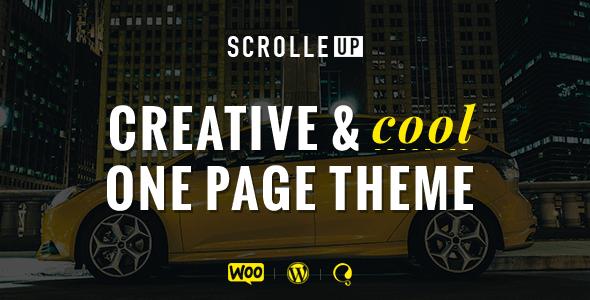 ScrolleUP - Creative One Page WordPress Theme | Wordpress, Website ...