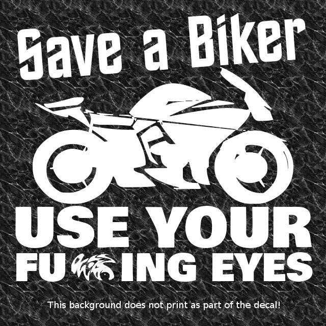 Save A Biker Decal Sticker Crotch Rocket Superbike Super Bike - Cool custom motorcycle stickers