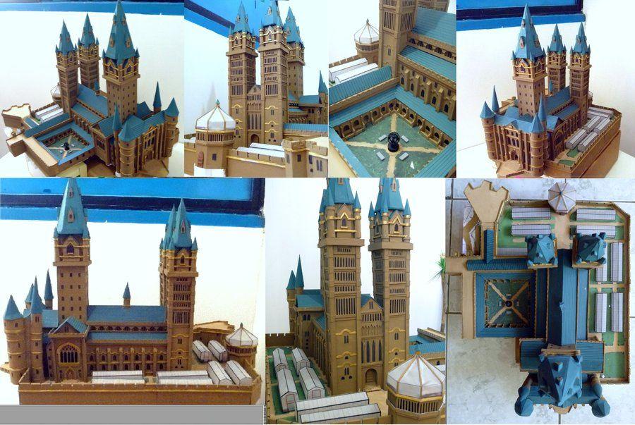 Hogwarts Castle Paper Model Wip 4 By Ana Wandmaker On Deviantart Hogwarts Castle Hogwarts Paper Models