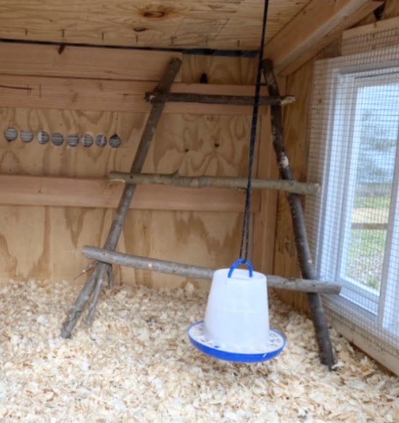 Natural Custom Built Homemade Chicken Roosting Bar Ladder Up To 36