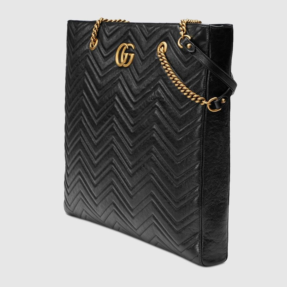 976a8c31f72d Fashion Bags · Shop the GG Marmont matelassé large tote by Gucci. Inspired  by the Running G belt