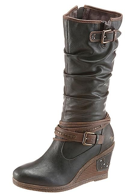 daf473438c8c Wedge Boots by Mustang Wedge Boots