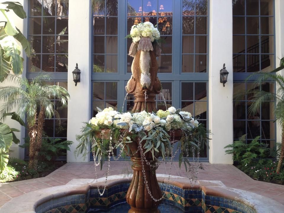 The Fountain at Bakersfield Country Club. Flowers by House