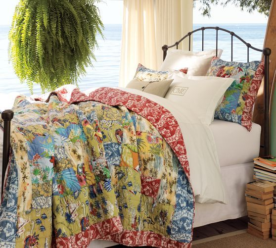 Island Patchwork Quilt Amp Sham Pottery Barn Quilted Sham