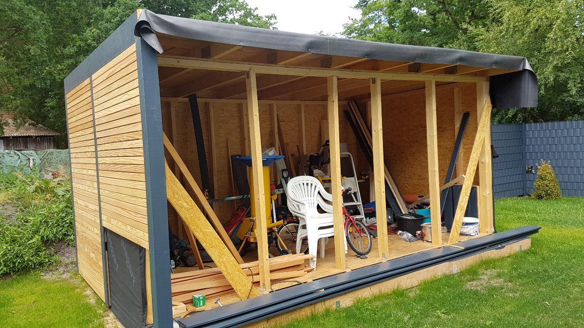 50+ Gartenhaus auf garage bauen Sammlung