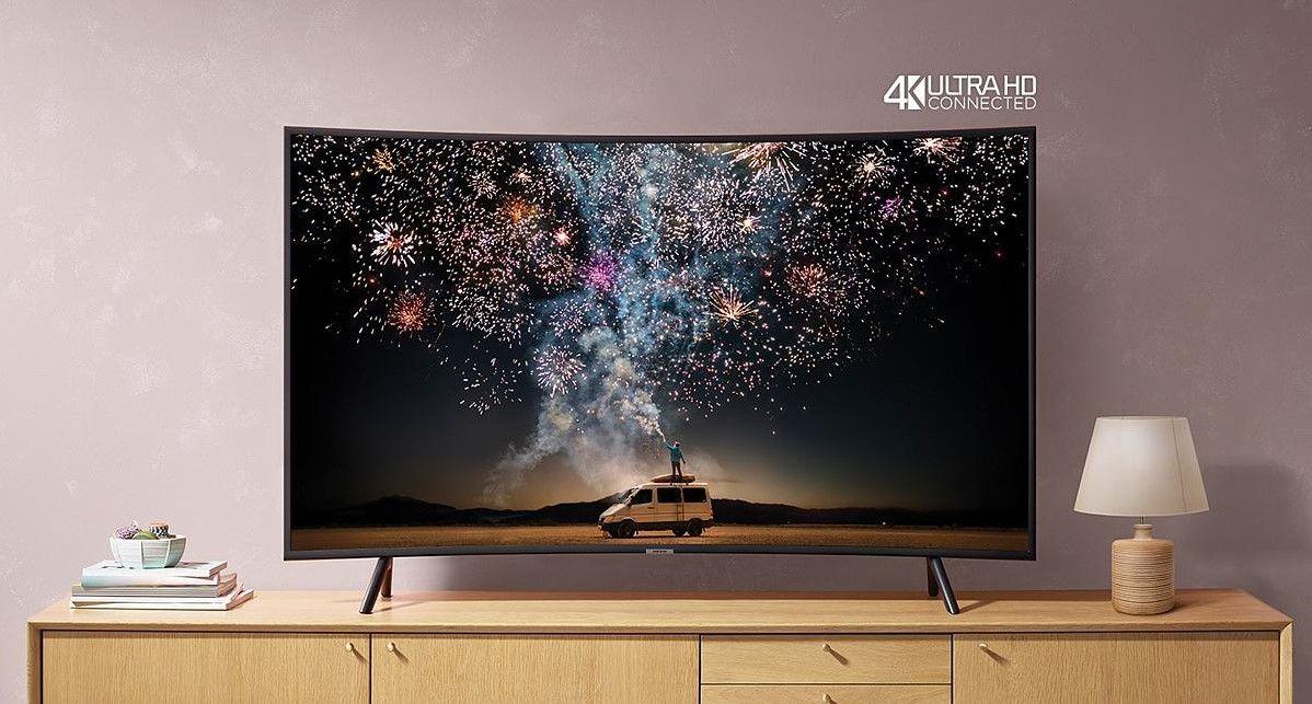 Samsung Ue49ru7372 Tv Led 4k 123 Cm Pas Cher Televiseur