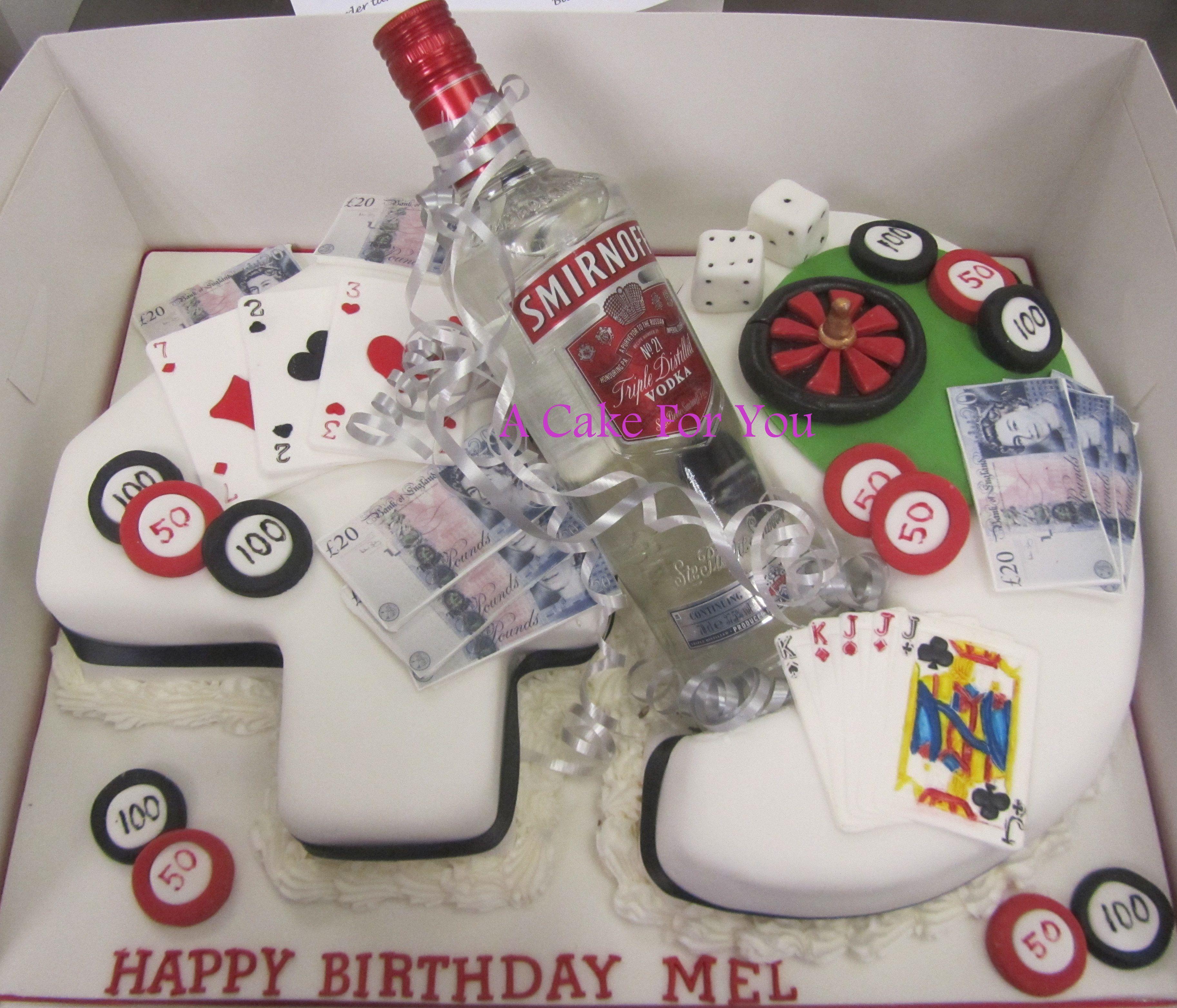 Poker Vodka Cards Chips Awesome Amazingcakes Number Cakes Amazing Cakes Cake