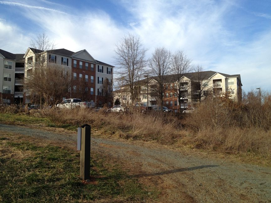 County housing along trail