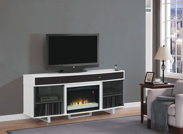 Modern White Electric Fireplace Tv Stand Fireplace Design Pinterest White Electric