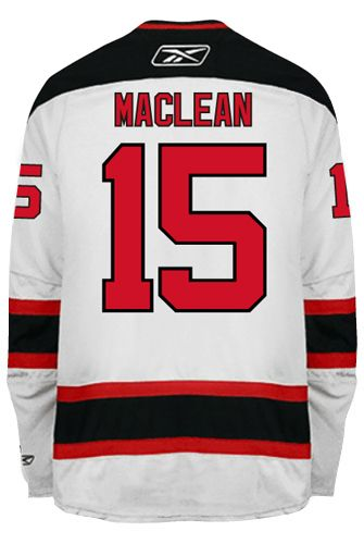 316677f77 New Jersey Devils VINTAGE John MacLEAN #15 Official Away Reebok Premier  Replica NHL Hockey Jersey (HAND SEWN CUSTOMIZATION)