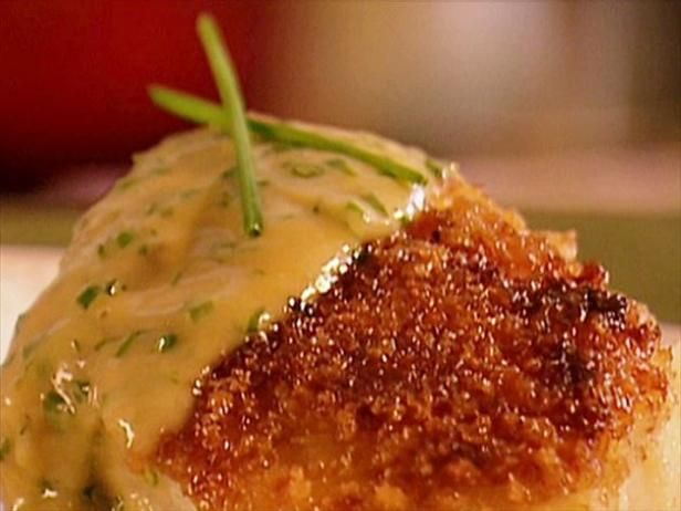Aaron tops cod fillets with a sauce of white wine, herbs, cream and butter.