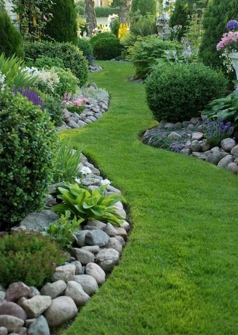 63 Beautiful Front Yard Rock Garden Landscaping Ideas Rock