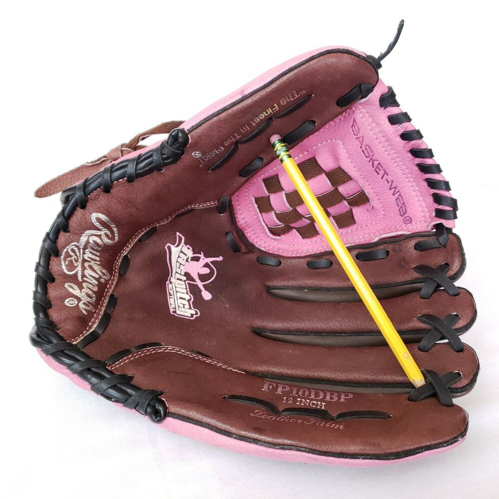 Rawlings Fp10dbp 12 Fast Pitch Glove Rht Baseball Softball Leather Pink Girls Rawlings Vintage Baseball Gloves Softball Gloves Rawlings