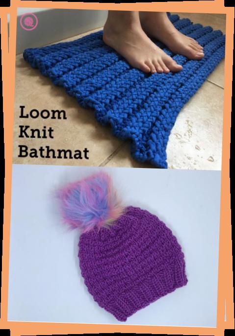 Photo of Loom Knit Bathmat  GoodKnit Kisses