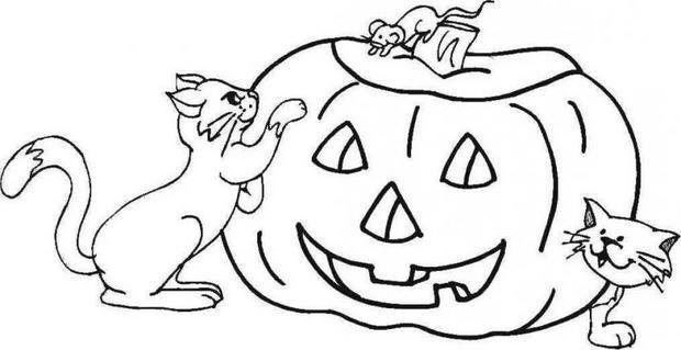 Ausmalbilder Herbst Kürbis: Halloween Ausmalbilder Kürbis 07