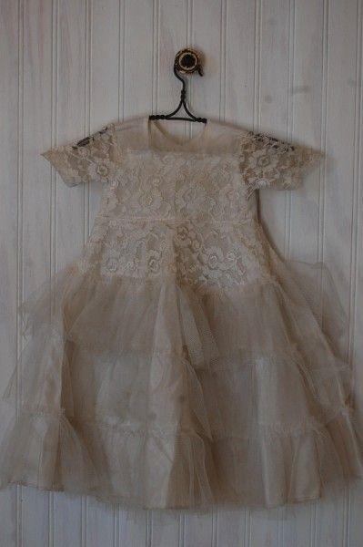 Adorable Vintage Lace Baby Dress